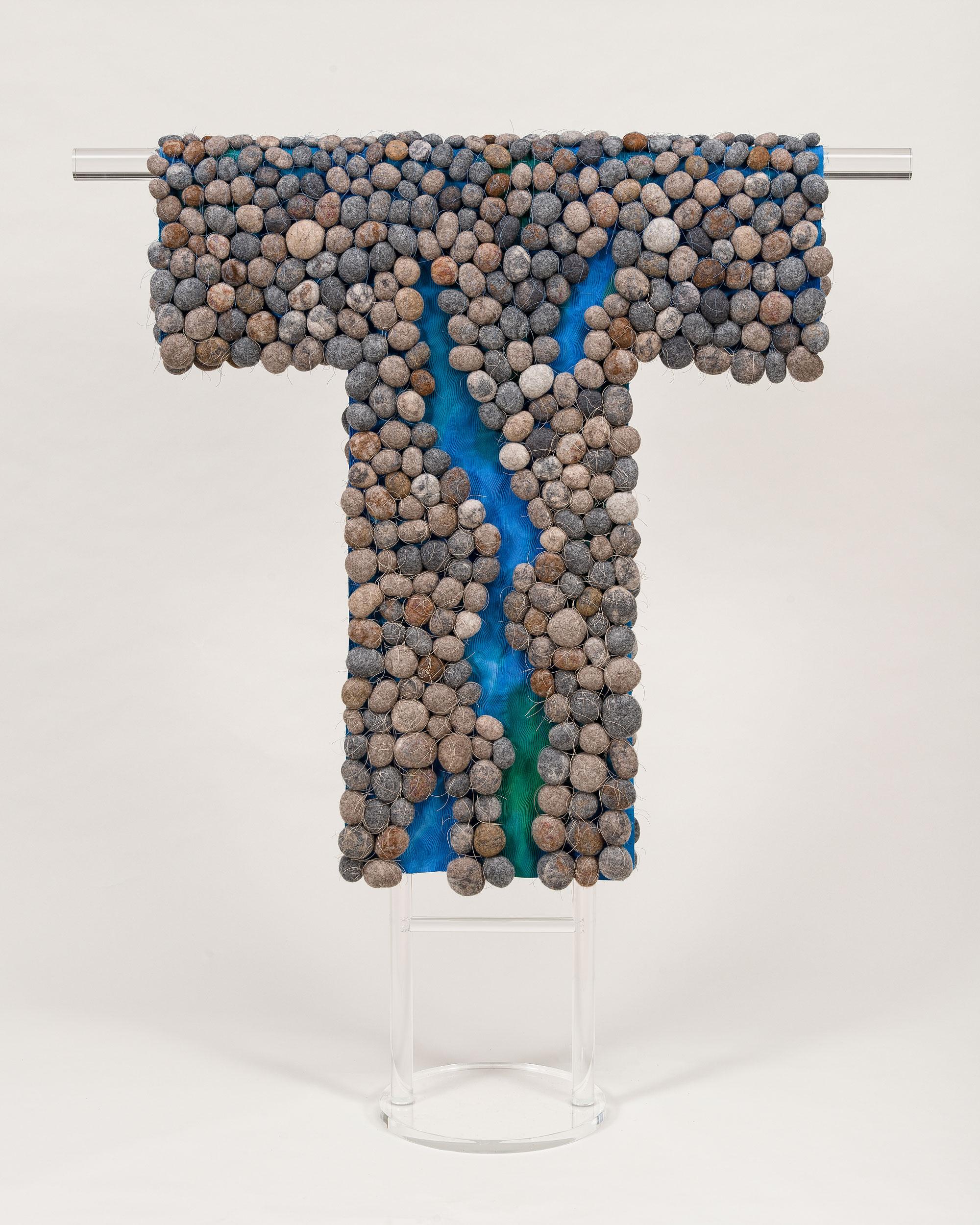 A River Runs Through Us J Fiber Art